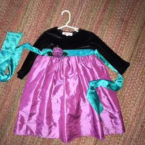 Other - Party Dress purple, aqua and black, 4T